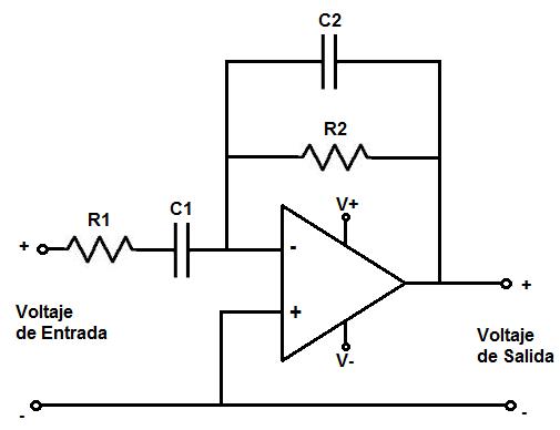 filtro paso banda circuito