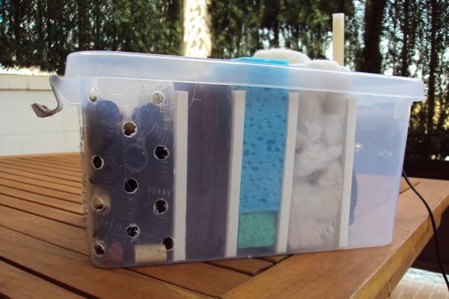 filtro estanque solar