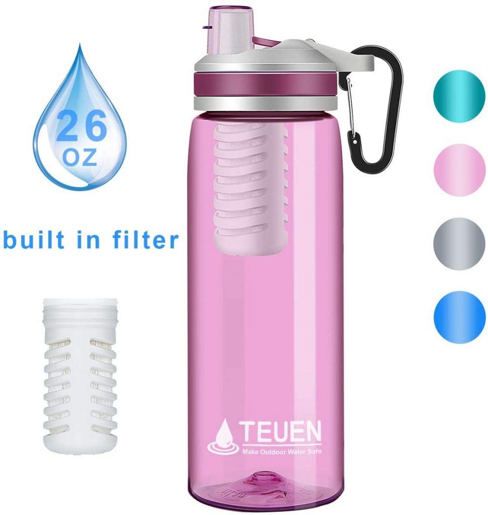 filtro botella agua