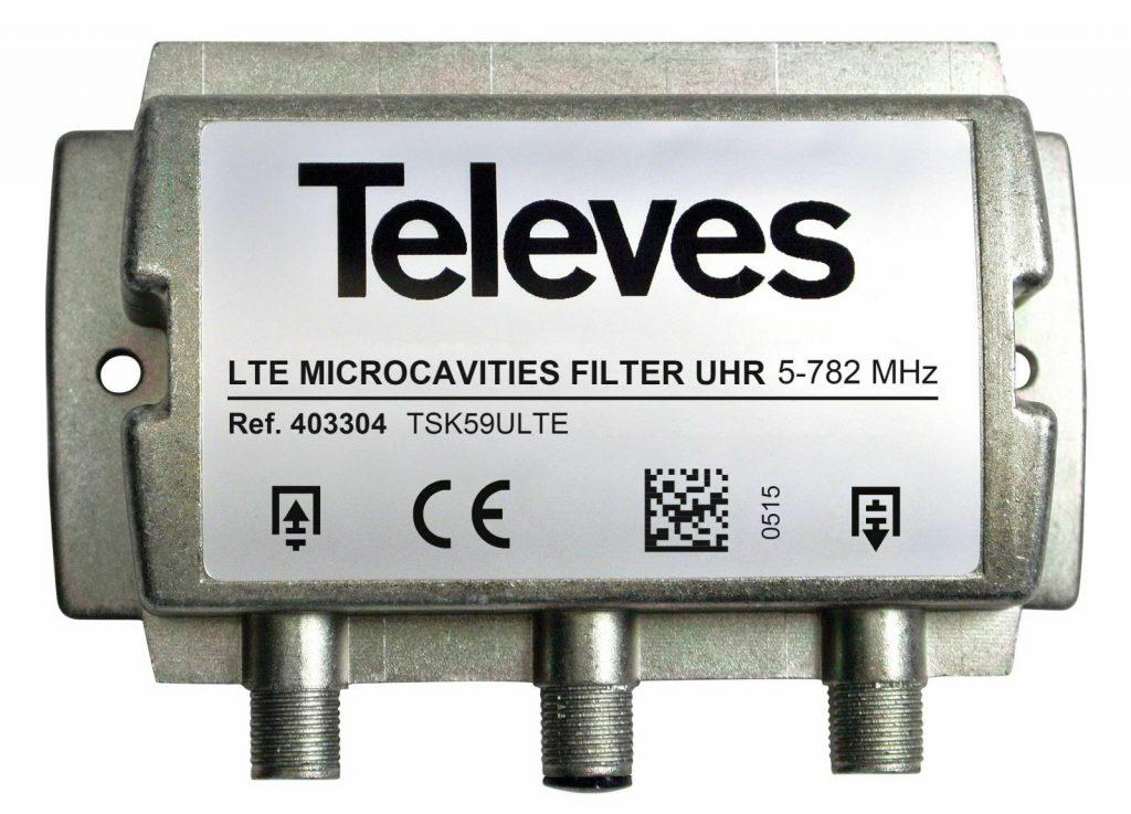 instalar filtro lte televes