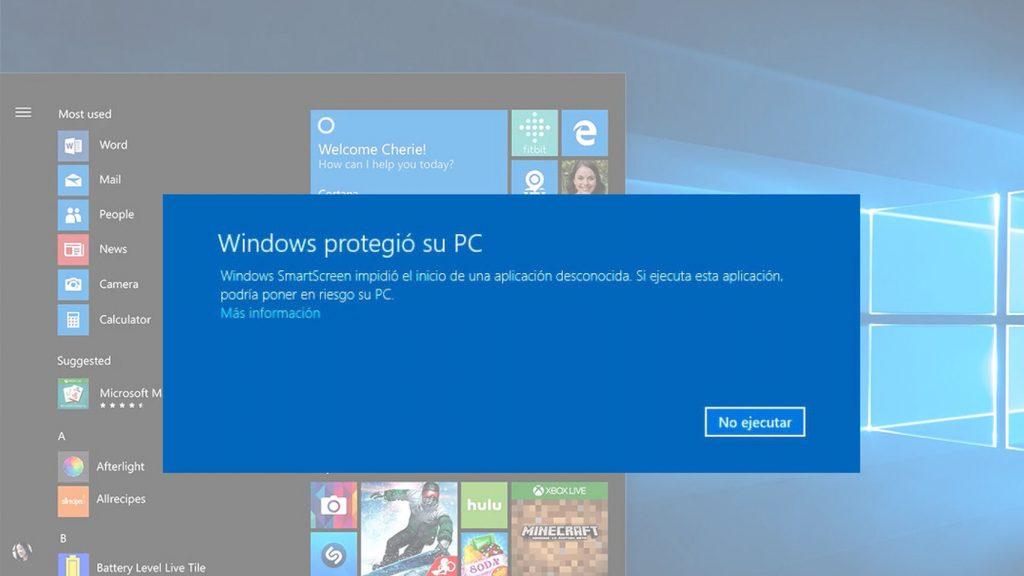 filtro smartscreen de windows defender