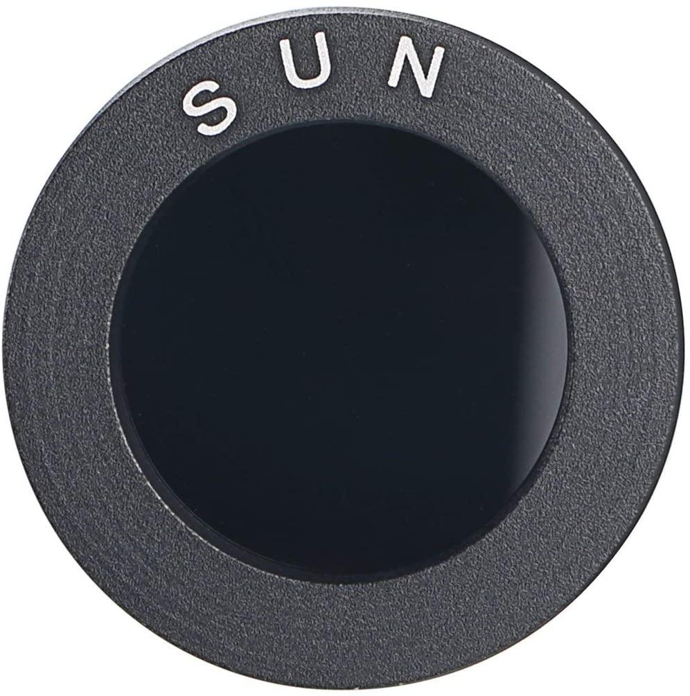 filtro telescopio para ver el sol
